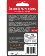 PR-0456 Crescendo Heavy Industry Ear Plugs back