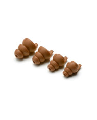 Dynamic Ear Company Eartips 4 sizes Coyote Brown