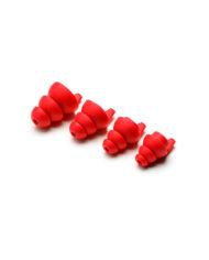 Dynamic Ear Company Eartips 4 sizes Red